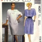 Misses Dress, Top, Skirt 80s Sewing Pattern McCalls 4057 Size 14, 16