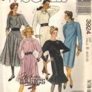 Misses 80s Dress Sewing Pattern McCalls 3924 Size 8, 10, 12