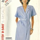 Misses 80s Mock Wrap Dress Sewing Pattern McCalls 3638 Size 8, 10, 12