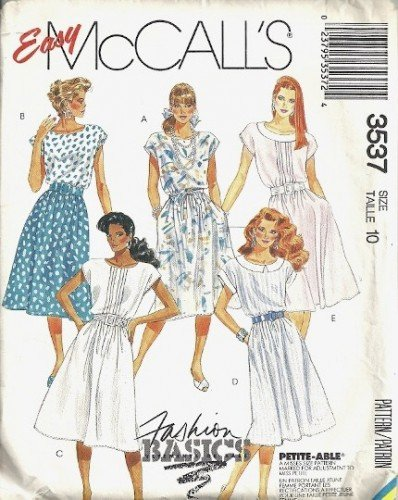 Misses Dress Vintage Sewing Pattern McCalls 3537 Size 10