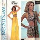 McCalls 4505 Misses Halter Top, Shorts, Pants Sewing Pattern 8, 10, 12