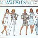 McCalls 4419 Misses Jacket, Vest, Skirt, Pants Sewing Pattern Size 14