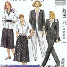 Misses Jacket, Skirt, Pants Sewing Pattern McCalls 4231 Sz 12, 14, 16
