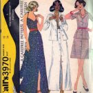 Misses 70s Jacket, Halter, Skirt Sewing Pattern McCalls 3970 Size 12