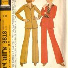Misses Halston Shirt Jacket, Pants Sewing Pattern McCalls 3818 Size 14