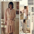 Misses 80s Jacket, Skirt Sewing Pattern McCalls 3520 Size 8, 10, 12