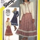 Misses Gunne Sax Skirt Blouse Jacket Sewing Pattern Simplicity 5491 Size 8