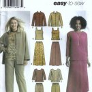 Misses Jacket, Top, Skirt Sewing Pattern Simplicity 5463 Size 10 - 18