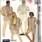 Men, Misses Jacket Shirt Shorts Sewing Pattern McCalls 3651 Med 36-38