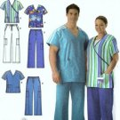 Men, Misses Scrubs Sewing Pattern Simplicity 4101 Size S, M, L