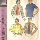 Mens Shirt 70s Sewing Pattern McCalls 3439 Chest 42, Neck 16