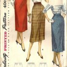 Misses 50s Slim Skirt 1 Yard Sewing Pattern Waist 24 Simplicity 1345
