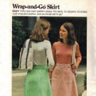 Misses 70s Back Wrap Skirt Sewing Pattern Butterick 4041 Size Small