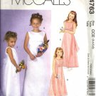 McCalls 4763 Girls Sleeveless Formal Dress Sewing Pattern Size 3, 4
