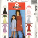 Girls Dress, Jacket Sewing Pattern McCalls 2929 Size 4, 5, 6