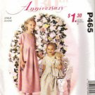Girls Dress, Doll Dress Sewing Pattern McCalls P465 Size 3, 4, 5, 6