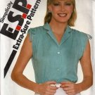 Misses Sleeveless Blouse Sewing Pattern Simplicity 5115 Size 10, 12