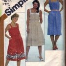 Misses 80s Sundress Pattern Simplicity 5443 Size 16, 18, 20