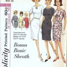 Misses Basic Sheath Dress 60s Sewing Pattern Simplicity 5324 Size 12