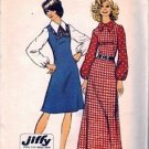 Misses 70s Sewing Pattern Long/Short Dress Simplicity 5239 Size 14