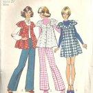Miss Mini Jumper Smock Pants Vtg Sewing Pattern Simplicity 5429 Sz 10