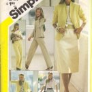 Misses 80s Jacket Blouse Skirt Sewing Pattern Simplicity 5384 Size 16
