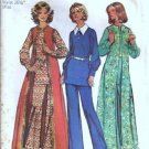 Misses Top, Long Boho Vest, Pants 70s Sewing Pattern Simplicity 5356 Sz 12
