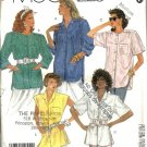 Misses 80s Loose Blouse Sewing Pattern McCalls 2899 Size 14, 16