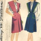 Misses 40s Blouse, Jumper Sewing Pattern Simplicity 1091 Size 18