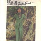 Misses 70s Jumpsuit Sewing Pattern Butterick 4380 Size 16