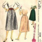 Misses 50s Skirt Vintage Sewing Pattern McCalls 3338 Waist 26