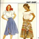 Misses' Draped Wrap Skirt Sewing Pattern Butterick 4404 Size 6, 8, 10