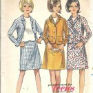 Misses Suit Skirt, Jacket 60s Sewing Pattern Butterick 4208 Size 11