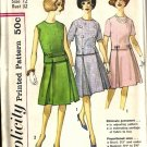 Misses 60s Two Piece Dress Sewing Pattern Simplicity 4296 Size 12