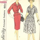 Misses Slenderette Dress 50s Sewing Pattern Simplicity 3279 Size 16