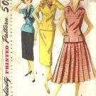 Misses 50s Two Piece Dress Sewing Pattern Size 13 Simplicity 1417