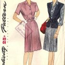 Misses 40s Dress, Jerkin Sewing Pattern Simplicity 1319 Plus Size 42