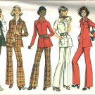 Misses Shirt Jacket Pants 70s Sewing Pattern Simplicity 5247 Size 16