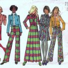 Misses Jacket Skirt Pants 70s Sewing Pattern Simplicity 5198 Size 12