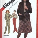 Misses Jacket, Skirt, Pants Sewing Pattern Simplicity 5198 Size 12