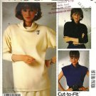 Misses Cowl Collar Knit Top Sewing Pattern McCalls P948 Size 12, 14