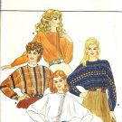 Misses Dolman Blouse 80s Sewing Pattern Butterick 4474 Size 10