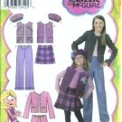 Girl Jacket, Skirt, Hat Sewing Pattern Simplicity 4895 Sz 3, 4, 5, 6