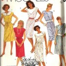 Misses 80s Dress Vintage Sewing Pattern McCalls 2983 Size 10