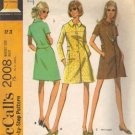 Misses 60s Coatdress, Dress Sewing Pattern McCalls 2008 Size 12