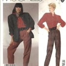 Misses Jacket, Shirt, Pants Sewing Pattern McCalls 3208 Size 16
