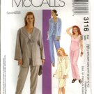 Womens Jacket Top Pants Skirt Pattern McCalls 3116 Size 18, 20, 22, 24