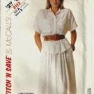 Misses 80s Shirt, Skirt Sewing Pattern McCalls 3113 Size 6, 8, 10