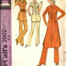 Misses 70s Tunic, Pants Vintage Sewing Pattern McCalls 2902 Size 12