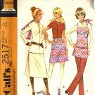 Misses 70s Top, Skirt, Vest, Pants Sewing Pattern McCalls 2517 Size 10